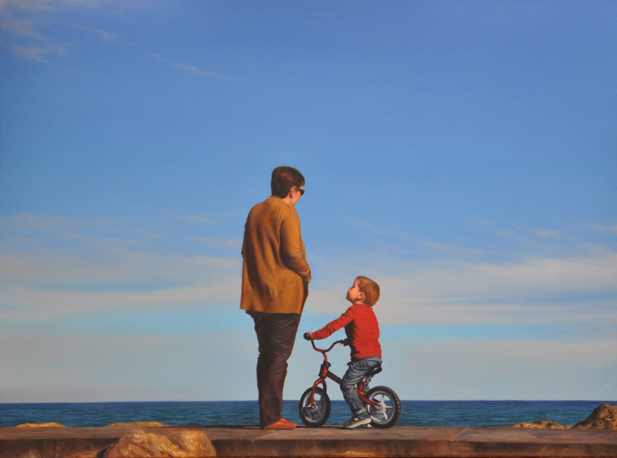 CONVERSATION oil on canvas 80cm x 60cm 2012
