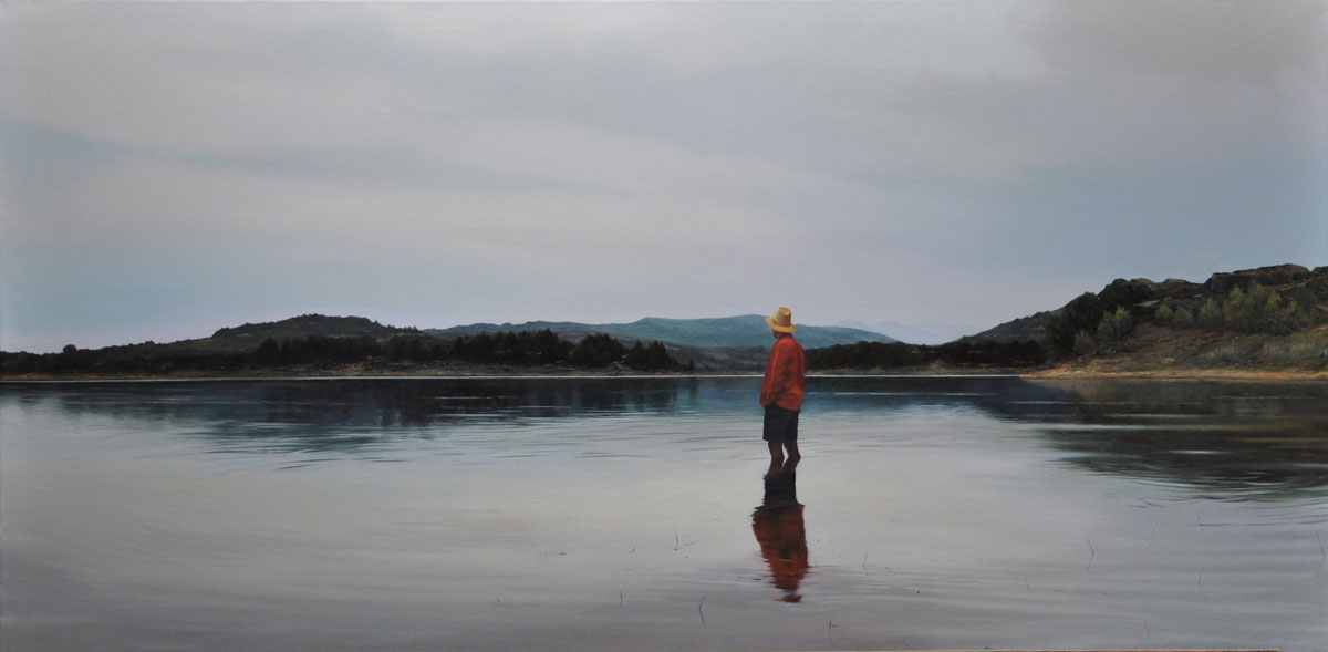 EVENING IN THE RESERVOIR oil on canvas 200cm x 100cm 2015