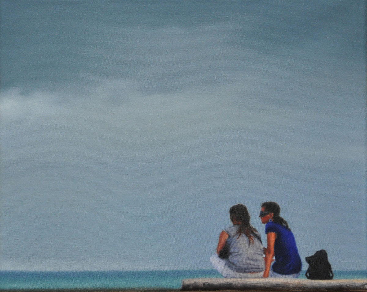 FRIENDS oil on canvas 30cm x 24cm 2012