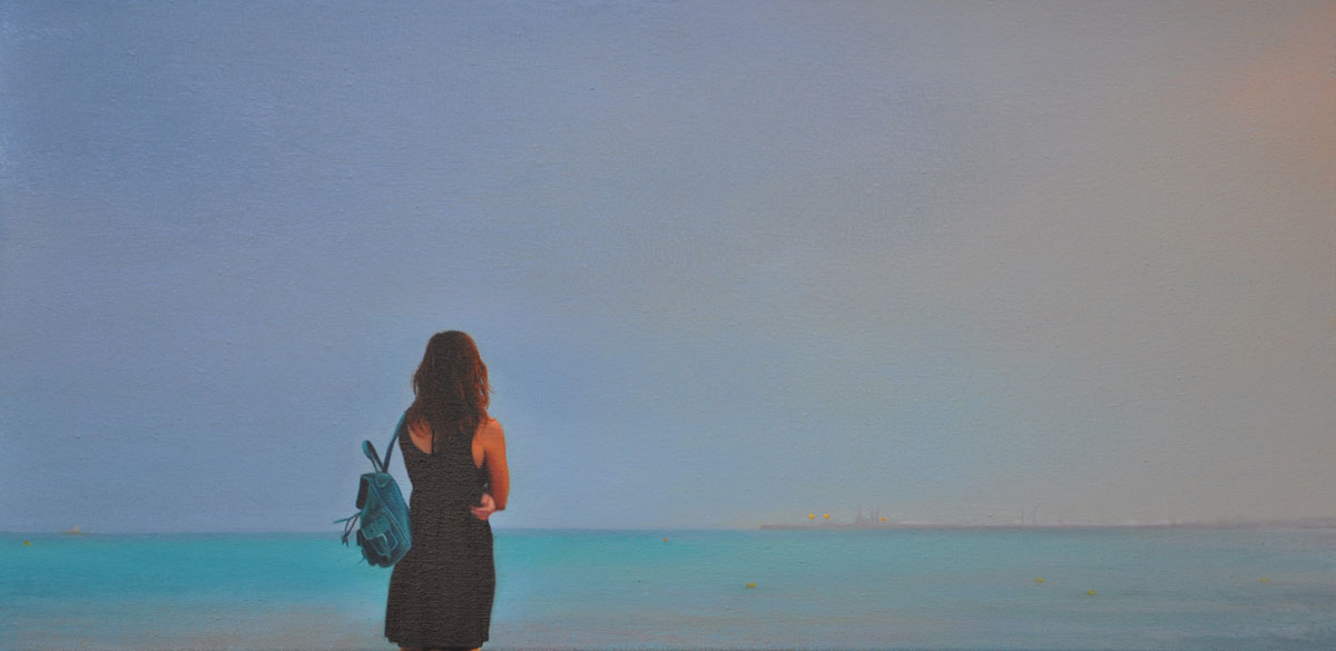 HORIZONT oil on canvas 60cm x 30cm 2013