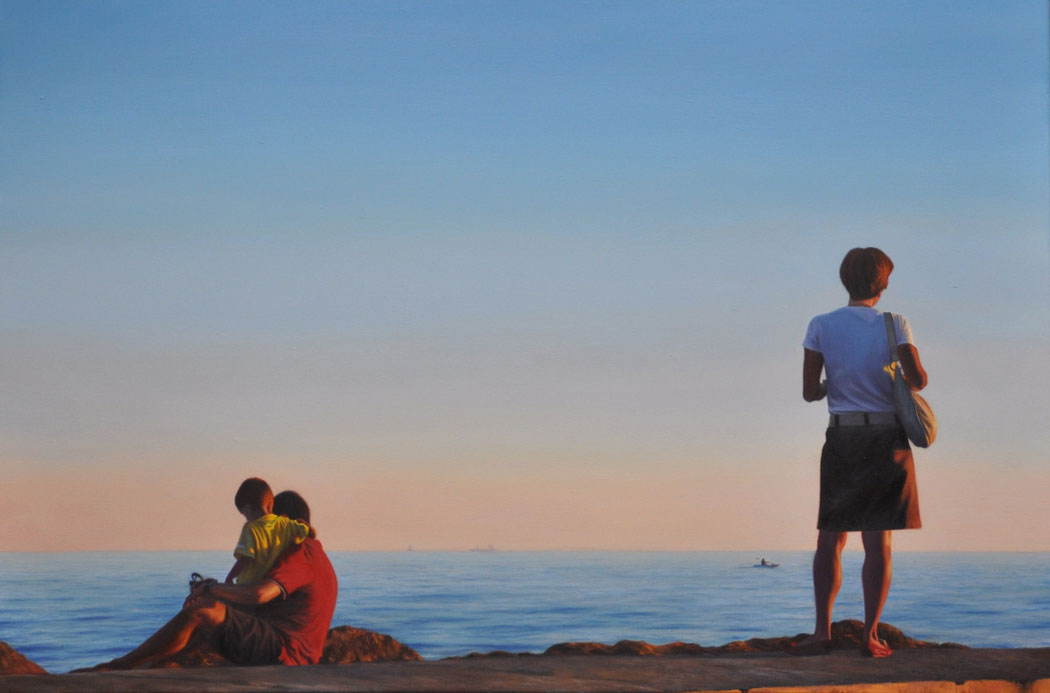 LATE AFTERNOON oil on canvas 90cm x 60cm 2012