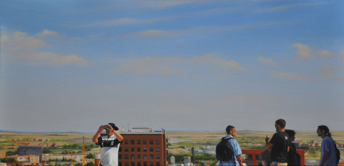MADRID oil on canvas 50cm x 25cm 2010