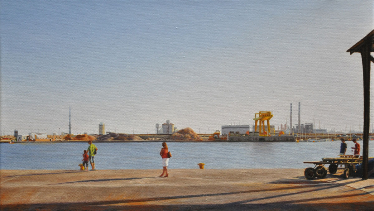 PUERTO DE CASTELLÓN oil on canvas 50cm x 25cm 2009