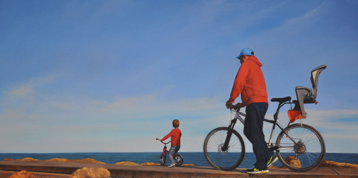 STROLL oil on canvas 100cm x 50cm 2012