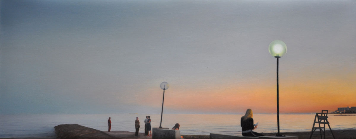 SUNSET oil on canvas 100cm x 40cm 2011