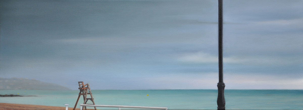 THE STORM oil on canvas 80cm x 30cm 2011