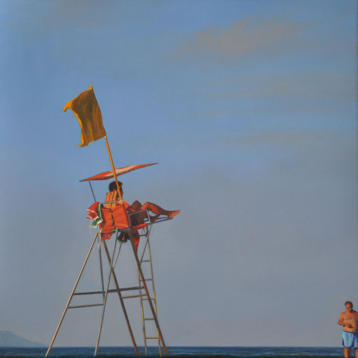 YELLOW FLAG oil on canvas 35cm x 35cm 2013