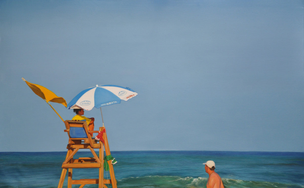 YELLOW FLAG oil on canvas 116cm x 73cm 2012