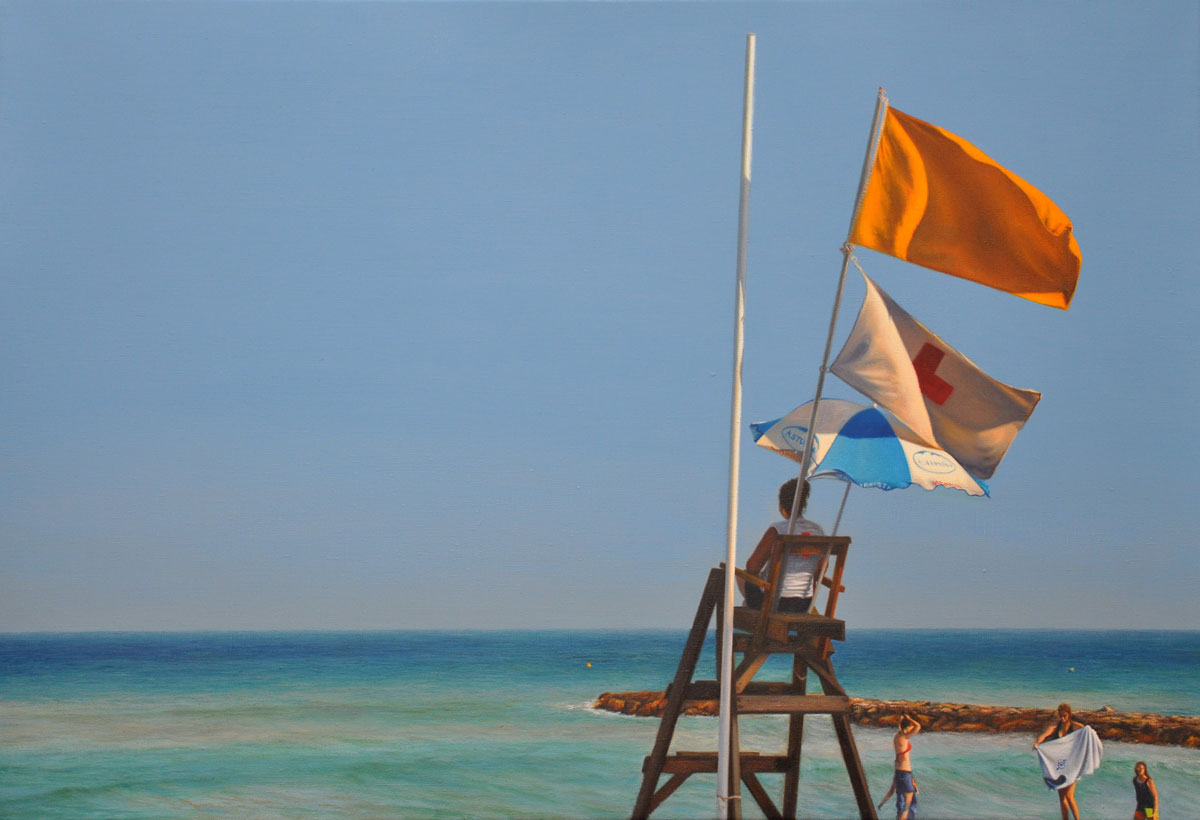 YELLOW FLAG oil on canvas 95cm x 65cm 2011